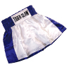 25% OFF! White/Blue Kick Boxing Shorts