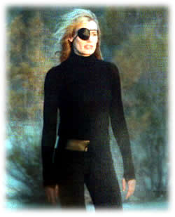 Daryl Hannah as Elle Driver, with hair and eyepatch