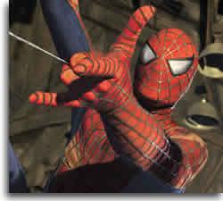The web slinging Spiderman!