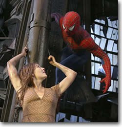 Spiderman saves Mary Jane
