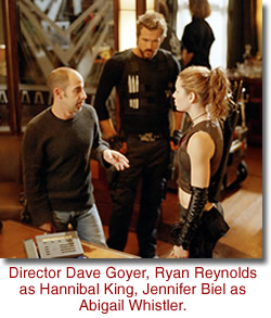 Director Dave Goyer with actors Ryan Reynolds & Jennifer Biel