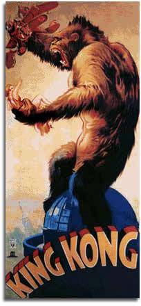 King Kong Movie Poster circa 1933