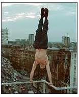 David Belle on a rooftop