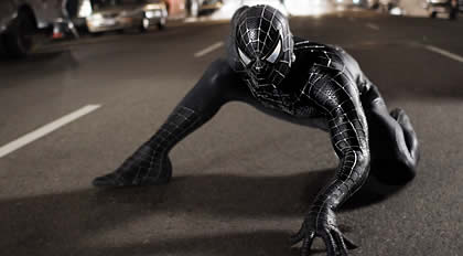 Spiderman in black featured in Spiderman 3