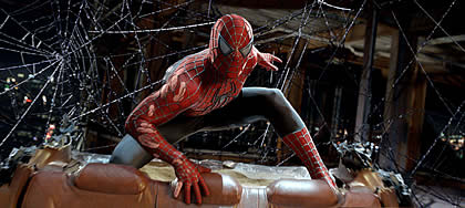 Wide view of Spiderman in Spiderman 3