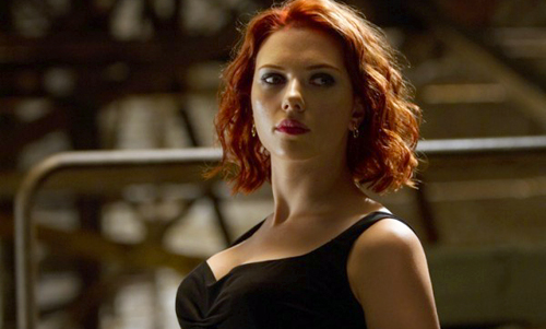 Scarlett Johansson as the dangerously seductive Black Widow