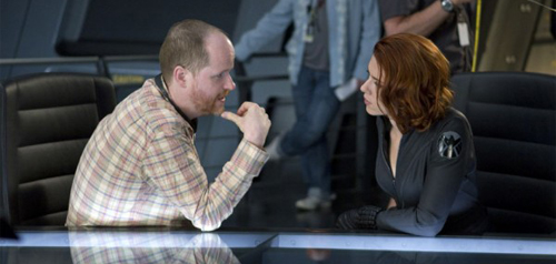 Scarlett Johansson and director Joss Whendon