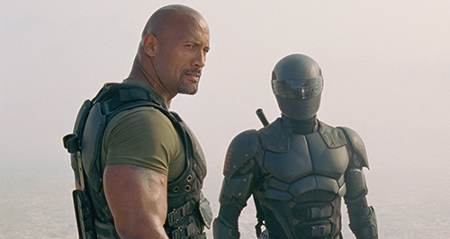 Dwayne THE ROCK Johnson and Ray Park as Roadblock and snake eyes