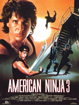 One-sheet theatrical poster for American Ninja 3.