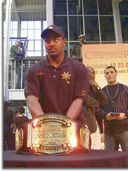 Belt photo: The Hip Hop Chess Federation Championship Belt copywrite 2007 Martin Rochin.