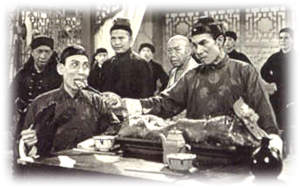 BW scene of  Wong Fei Hung