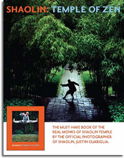 The Must-have book of the real monks of Shaolin Temple by the official photographer of Shaolin, Justin Guariglia