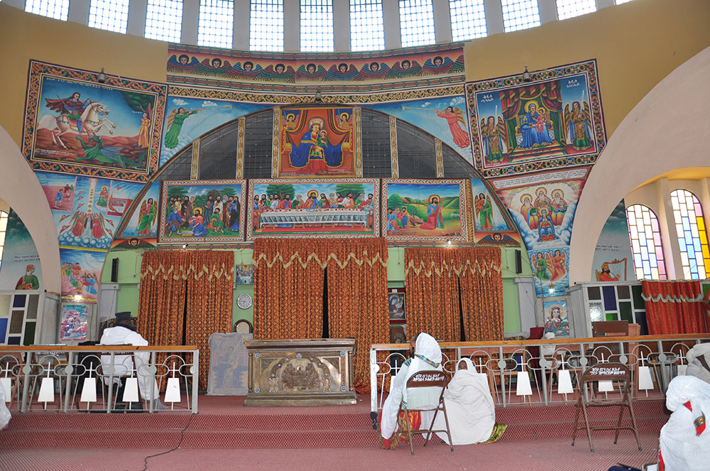 Interior of the church of St. Mary in Axum.