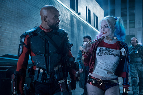 Will Smith as Deadshot with Margot Robbie as Harley Quinn