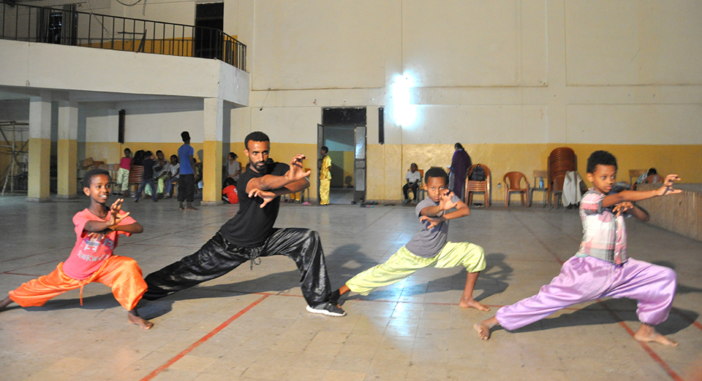 Wushu club in Teshome.