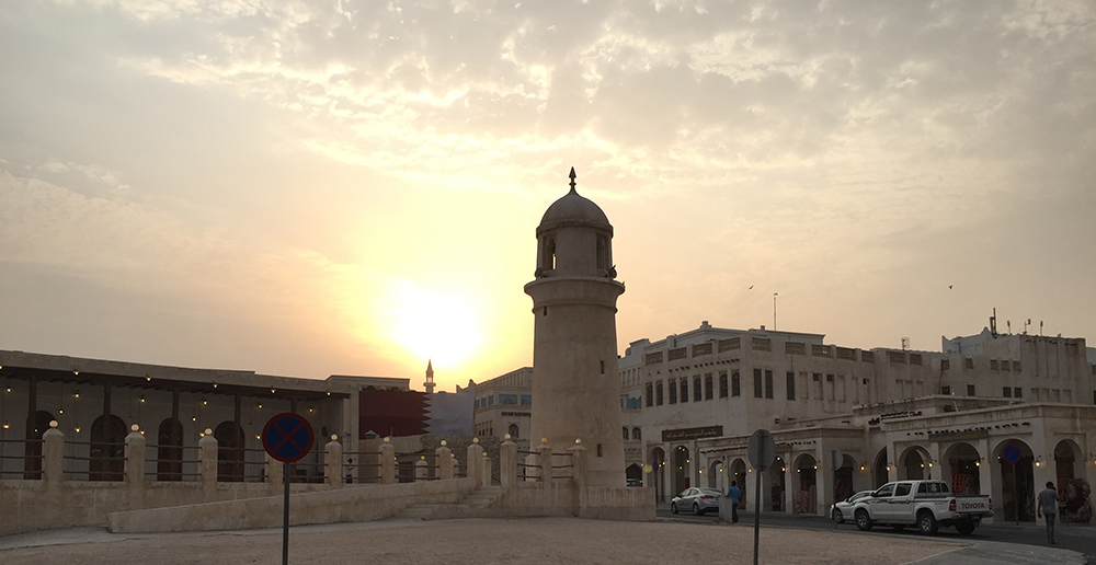 Sunset at Souk Waqif