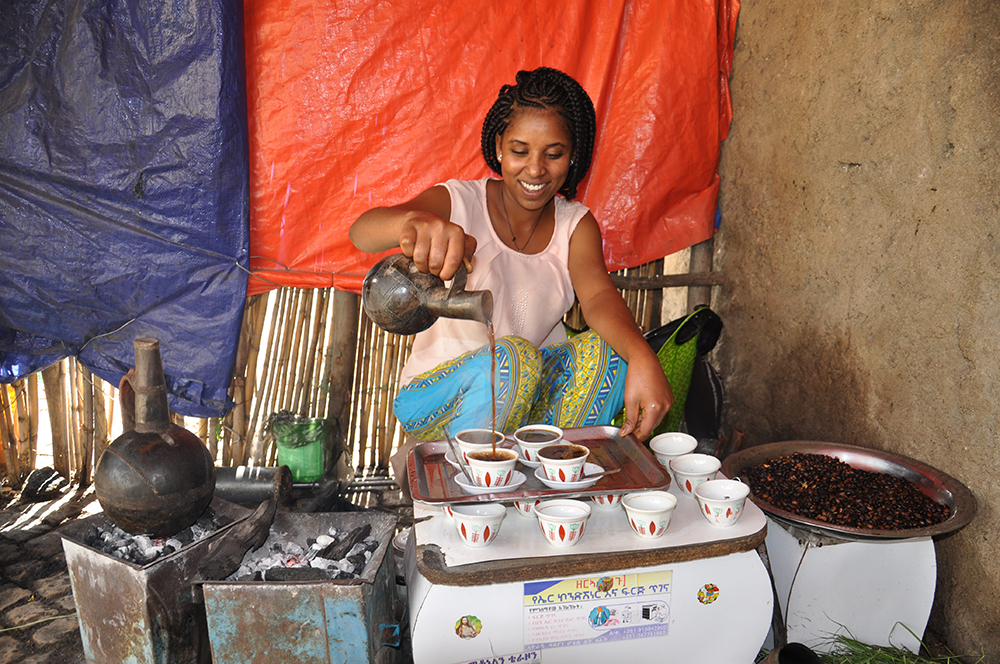 Making real coffee in Axum.