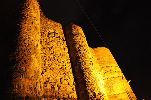 Narikala Fortress at night