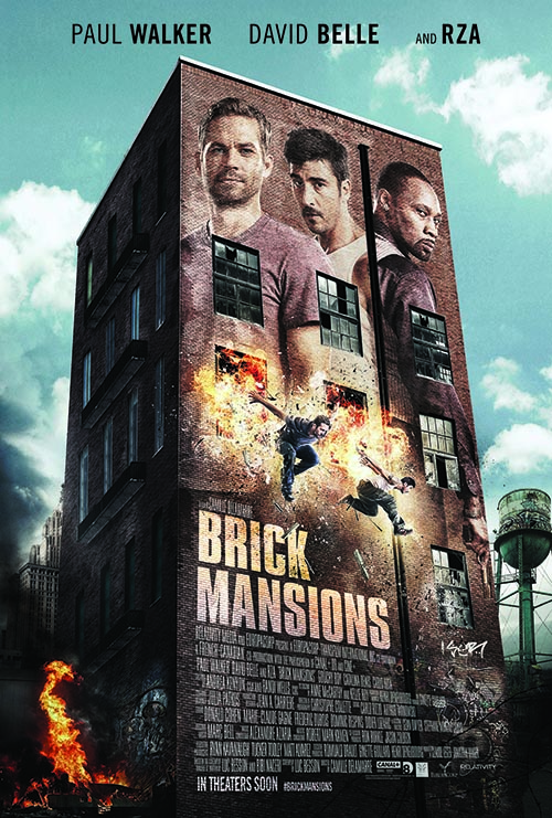 Brick Mansions, a film by Camille Delamarre starring Paul Walker, David Belle and RZA