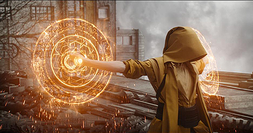 the Ancient One's magic kung fu.