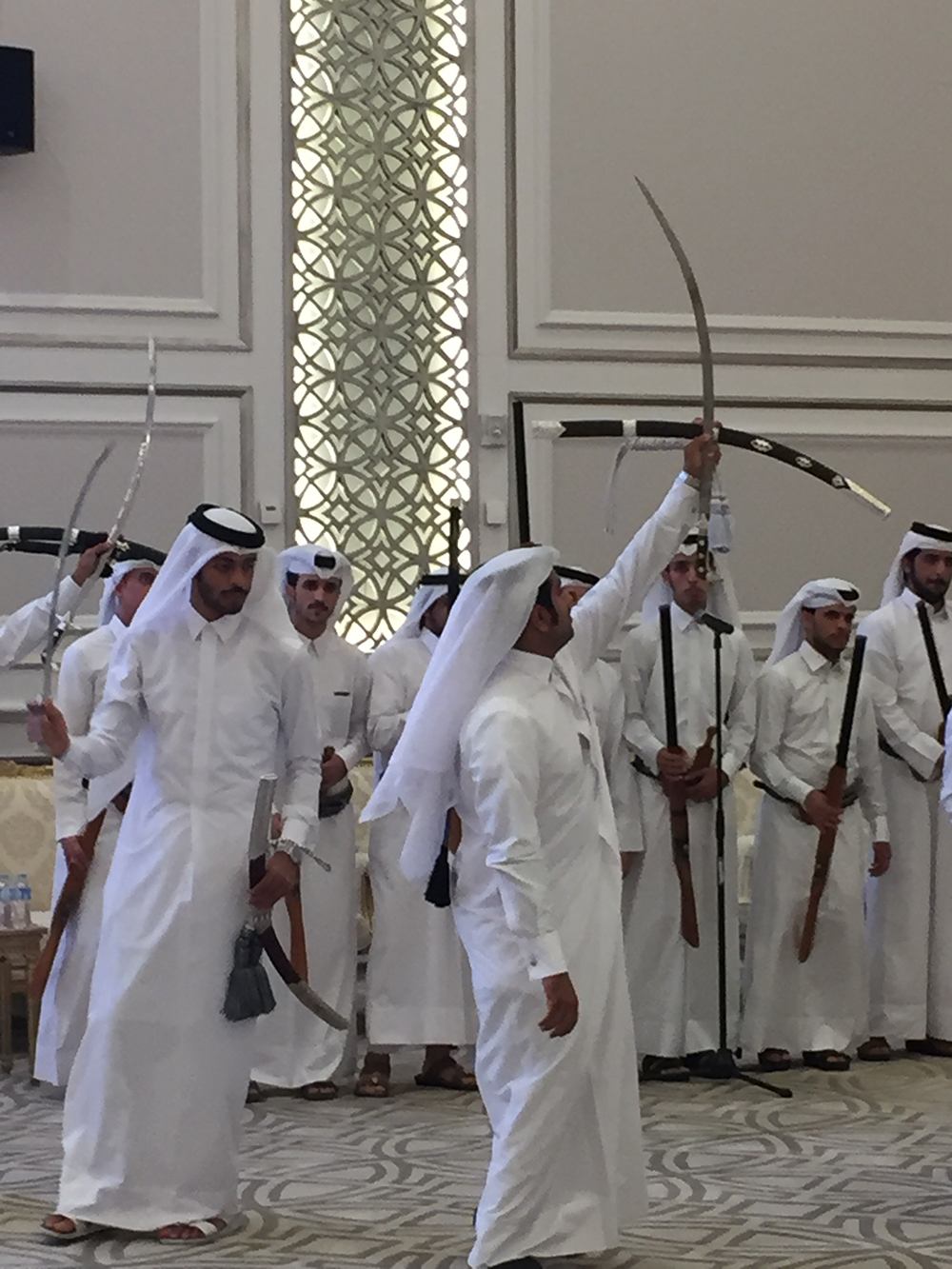 Sword Dance at Qatari Wedding