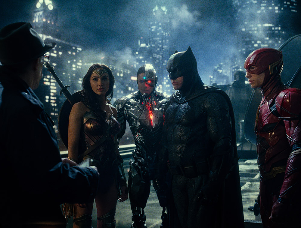 Wonder Woman, Cyborg, Batman & The Flash